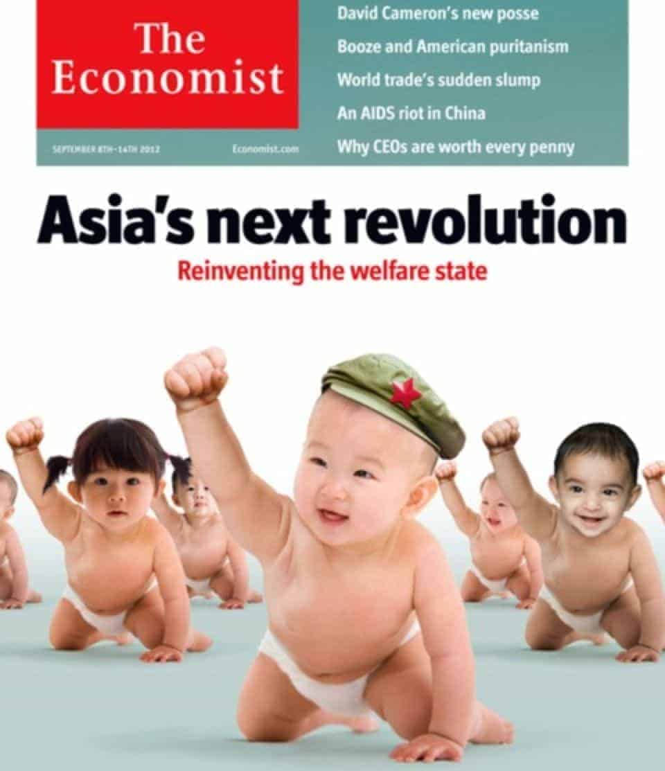 Economist Magazine Cover highlighting Asia role in globalisation