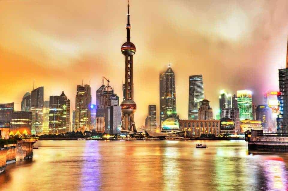 The Bund, Shanghai. Representing the globalisation hope of China