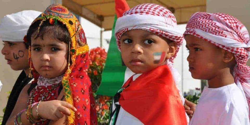 Emirati Kids Celebrating Happy New Year