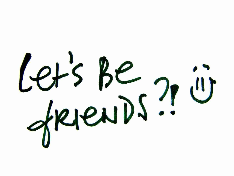 Let's be friends?