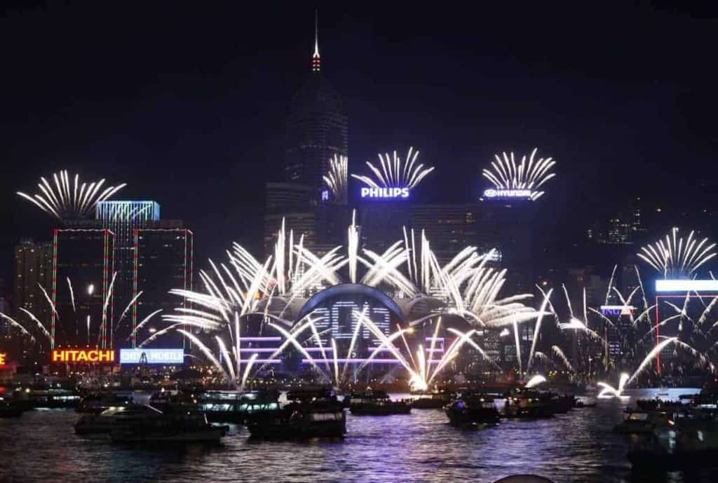 HK New Year Eve Fireworks
