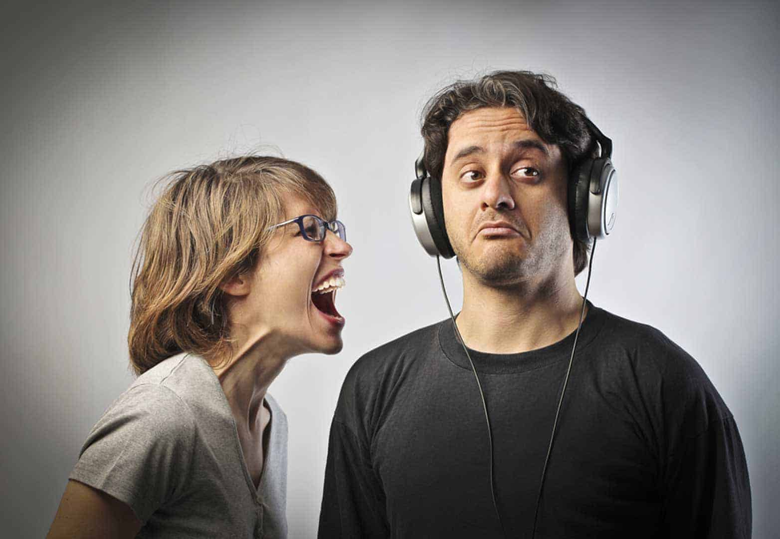 Disruption, ignoring the voices around you