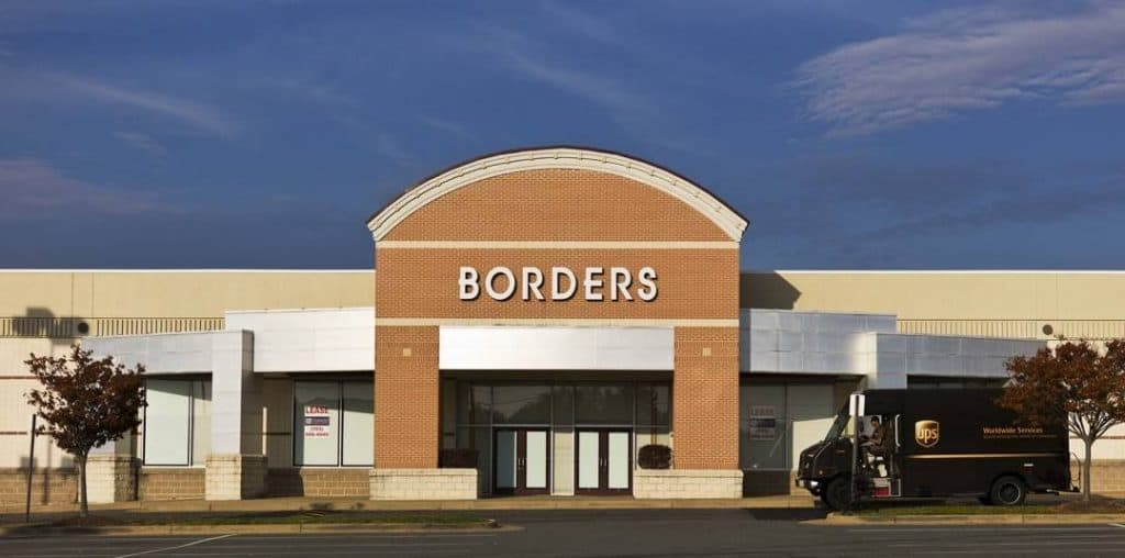Borders bookstore closed by innovation