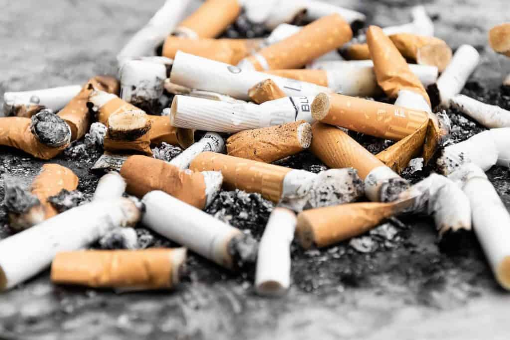 Why do we litter? Cigarette butts in an ugly clump