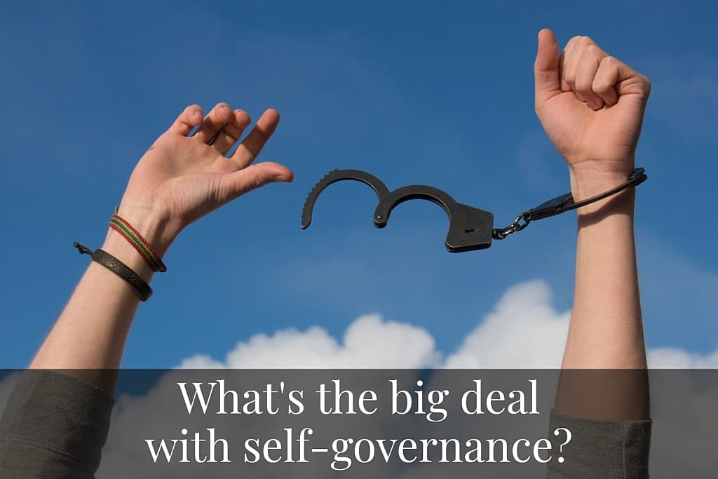 What's the big deal with self-governance?