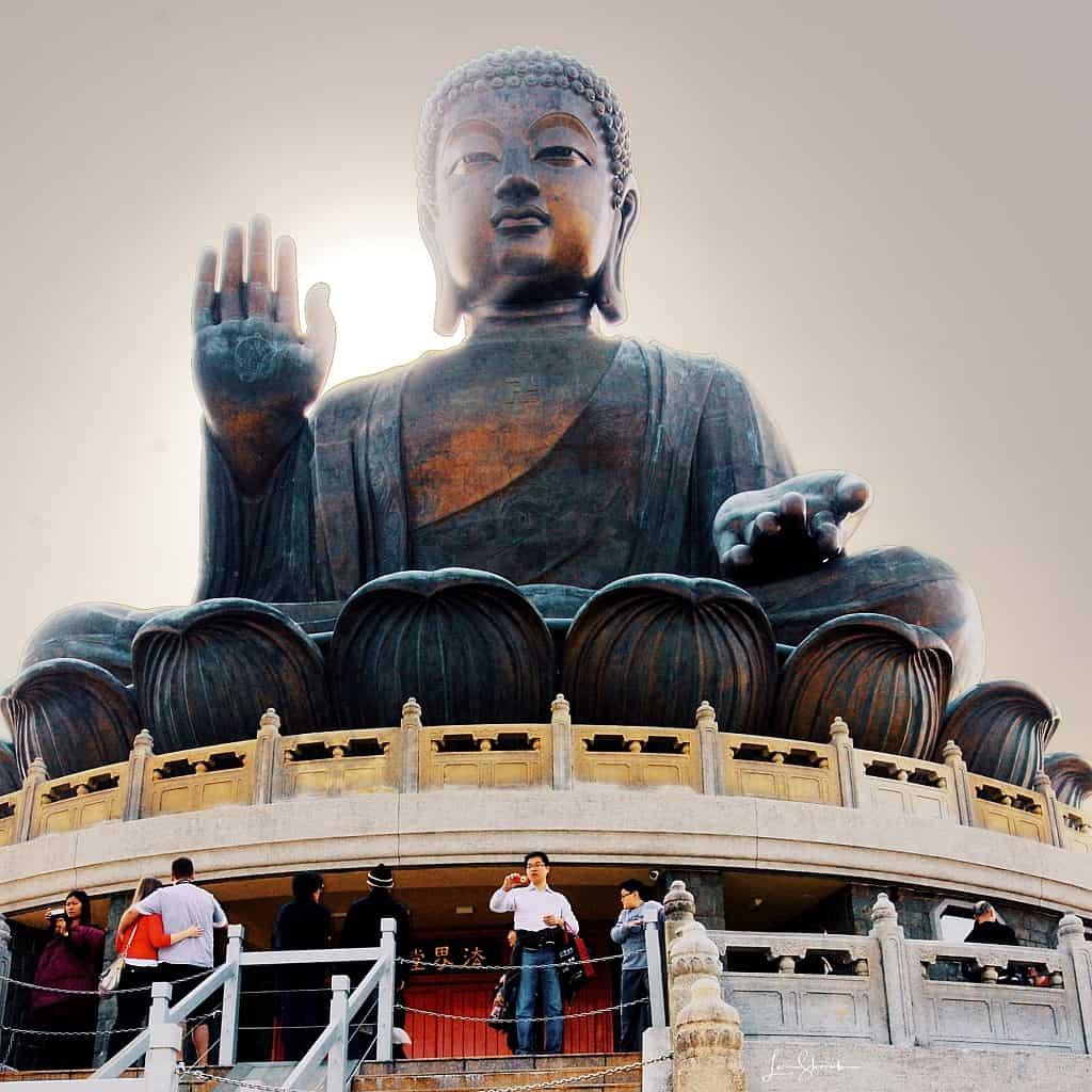 Buddha overlooking Hong Kong